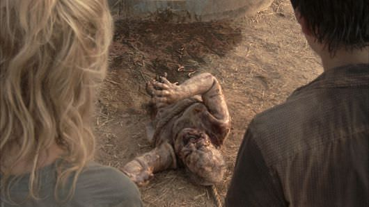 After: Our zombie in The Walking Dead is now in even more dire straights, thanks to Stargate Studios