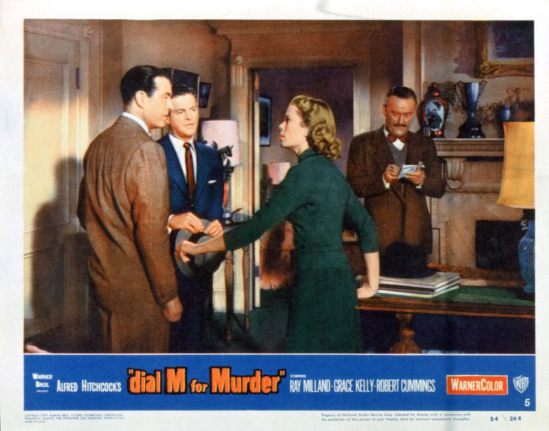 """A still shot from Alfred Hitchcock's """"Dial M For Murder,"""" starring Grace Kelly, Ray Milland and Robert Cummings"""