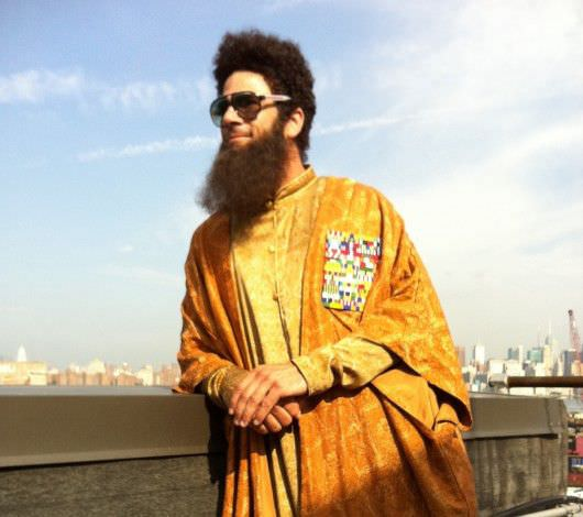 Oliver as Sacha Baron Cohen's stunt double in The Dictator