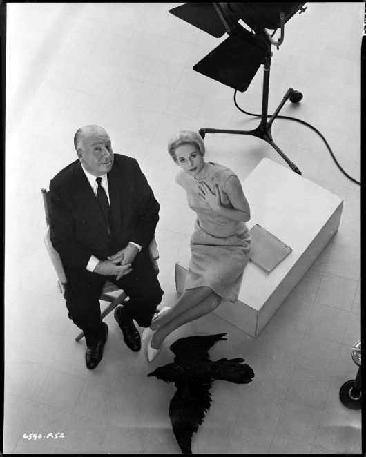 The Master of Suspense and Tippi Hedren