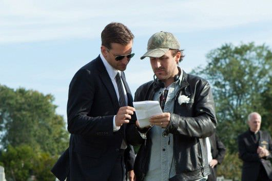 Bradley Cooper co-stars as Avery. With Cianfrance on the set.