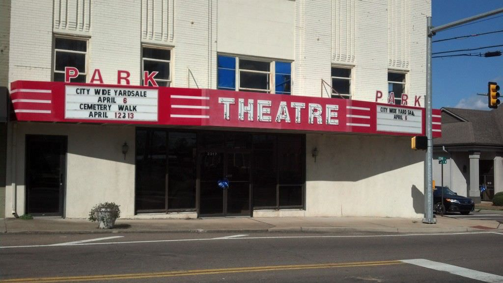 The Park Theater in McKenzie, saved from becoming a parking lot, with renovations pending.