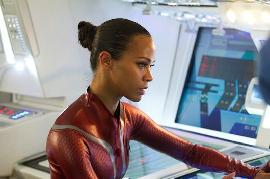 Zoe Saldana is Uhura in STAR TREK INTO DARKNESS from Paramount Pictures
