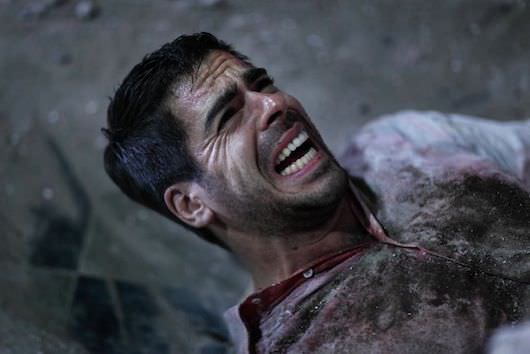 Eli Roth, in a bit of a situation during 'Aftershock.' Courtesy Dimension Films