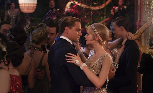 (L-R) Leonardo DiCaprio as Jay Gatsby and Carey Mulligan as Daisy Buchanan in Warner Bros. Pictures' and Village Roadshow Pictures' drama Courtesy Warner Bros. Pictures.