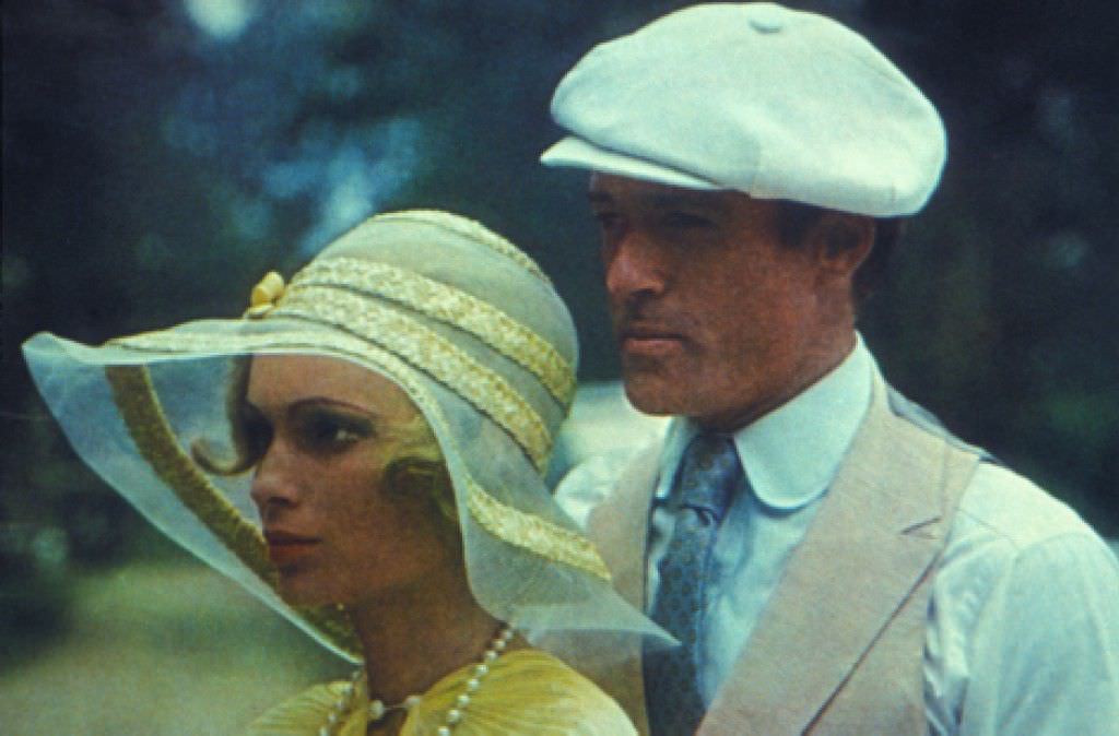 Mia Farrow (L) and Robert Redford as Daisy Buchanan and Jay Gatsby in the 1974 version. Courtesy Warner Bros. Home Entertainment