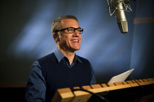 Christoph Waltz in the studio to voice Mandrake. Courtesy Twentieth Century Fox Film Corporation