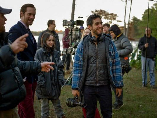 Alexander Skarsgard, Ellen Page, and Zal Batmanglij on the set of 'The East.' Courtesy Fox Searchlight