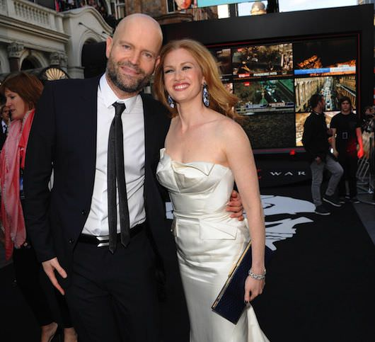 Left to right: Director/Executive Producer Marc Forster and Mireille Enos at the Global Premiere of WORLD WAR Z,
