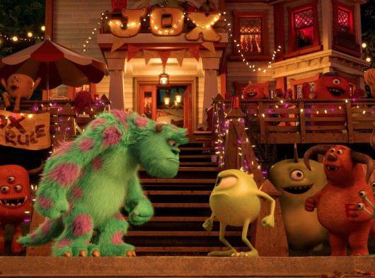 Sulley and Mike weren't always best friends. Courtesy Pixar Animation/Walt Disney Studios