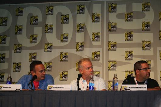 Composers sit for a panel at Comic-Con 2013 in San Diego