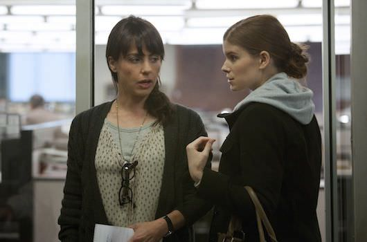 """Constance Zimmer and Kate Mara in a scene from Netflix's """"House of Cards."""" Photo credit: Melinda Sue Gordon for Netflix."""