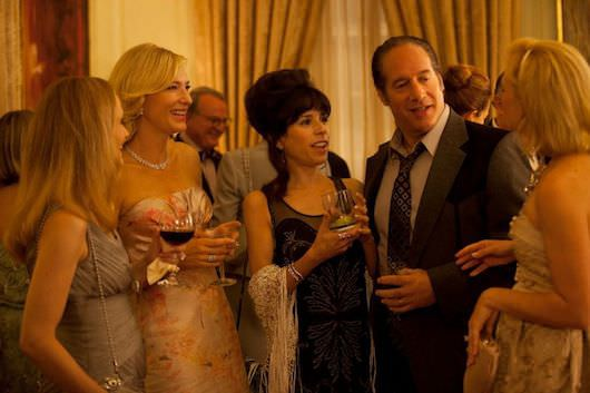 Left to right: Cate Blanchett as Jasmine, Sally Hawkins as Ginger and Andrew Dice Clay as Augie Photo by Jessica Miglio © 2013 Gravier Productions, Courtesy of Sony Pictures Classics