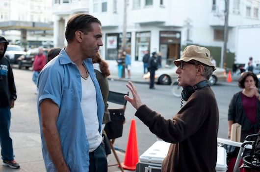 Left to right: Bobby Cannavale and Director Woody Allen Photo by Merrick Morton © 2013 Gravier Productions, Courtesy of Sony Pictures Classics
