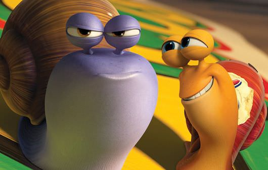 Chet (left, voiced by Paul Giamatti) is the older brother - and voice of reason - to Turbo (Ryan Reynolds), an underdog snail whose dreams suddenly kick into overdrive. Courtesy DreamWorks Animation/Twentieth Century Fox