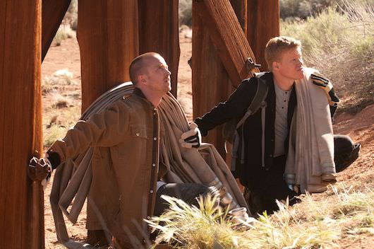 "Jesse Pinkman (Aaron Paul) and Todd (Jesse Plemons) - Breaking Bad_Season 5, Episode 5_""Dead Freight"" - Photo Credit: Gregory Peters/ AMC"