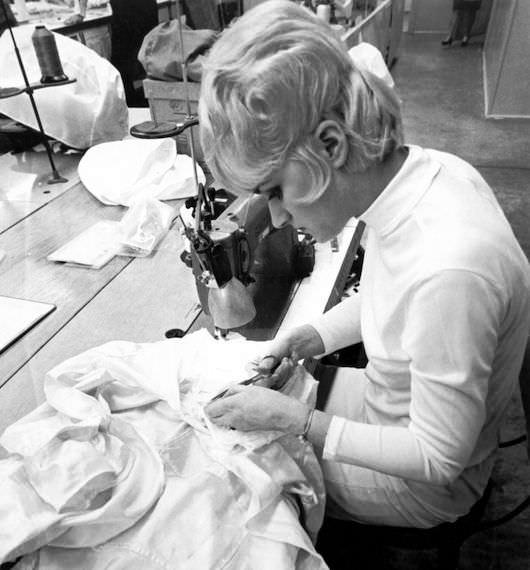 A crucial cog in the Apollo 11 moon landing, hard at work. Courtesy ILC Dover, LP