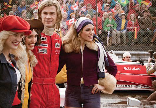 Julian Day's costume design work included not only working with Gucci and Ferragamo, but also OMP Racing to get the race suits just right. Courtesy Universal Pictures