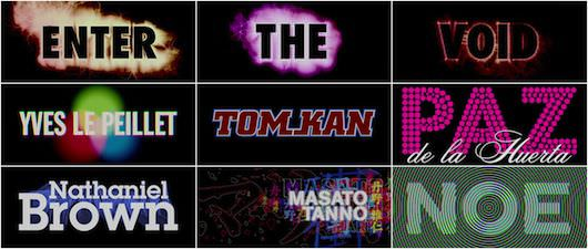 Enter the Void's title sequence