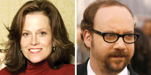 Sigourney Weaver and Paul Giamatti