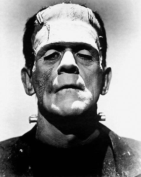 Jack Pierce's work on Boris Karloff, turning him into Frankenstein's monster.