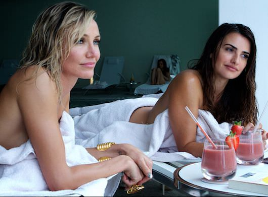 Malkina (Cameron Diaz) and Laura (Penelope Cruz) enjoy what only appears to be a relaxing massage. Courtesy Twentieth Century Fox.