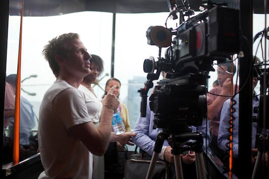 Spike Jonze on the set of 'Her.' Courtesy NYFF & Warner Bros. Pictures