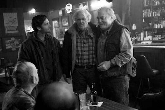 Forte, Dern and Stacy Keach as Ed Pegram in a bar in Hawthorne. Courtesy Paramount Pictures.