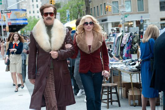 Left to right) Will Ferrell is Ron Burgundy and Christina Applegate is Veronica Corningstone in ANCHORMAN 2: THE LEGEND CONTINUES to be released by Paramount Pictures. Photo credit: Gemma LaMana