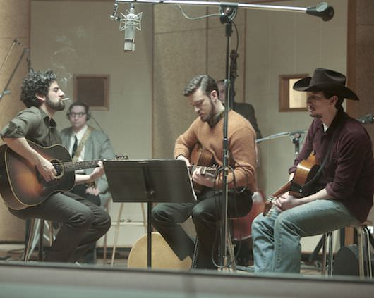 Oscar Isaac, Justin Timberlake and Adam Driver (L to R)in Joel and Ethan Coen's INSIDE LLEWYN DAVIS Photo: Alison Rosa ©2012 Long Strange Trip LLC