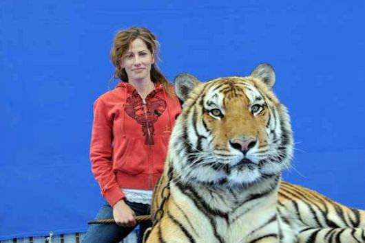 Tamara Reynolds with one of the stars of 'Life of Pi.' Courtesy Gentle Jungle