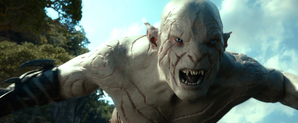 Manu Bennett as Azog. Courtesy Warner Bros. Pictures.