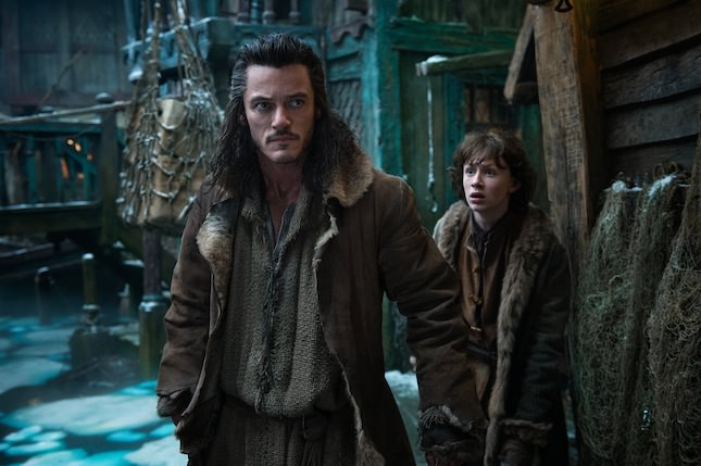 L-r: Luke Evans as Bard & John Bell as Bain