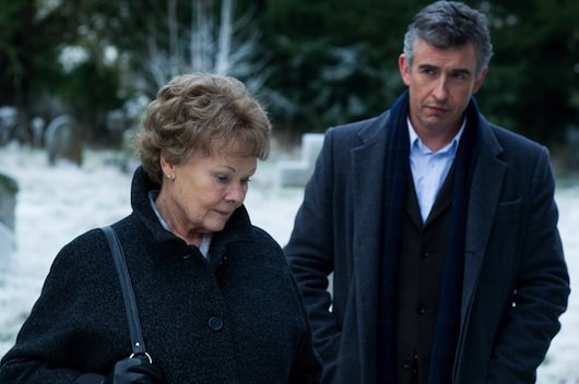 Judi Dench and Steve Coogan. Courtesy The Weinstein Company.