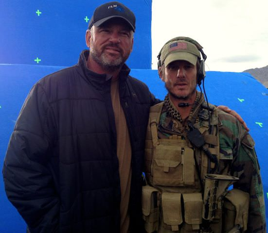 Kevin Scott & director Pete Berg on the set of 'Lone Survivor.' Courtesy Universal Pictures
