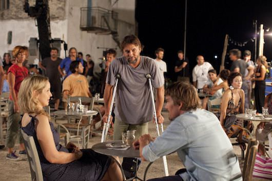 Richard Linklater directing his actors in the trilogy's final, magical scene. Courtesy Sony Pictures Classics.