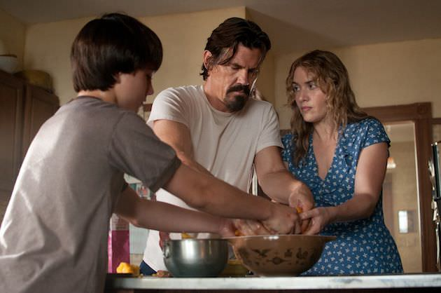 (Left to right) Gattlin Griffith is Henry, Josh Brolin is Frank and Kate Winslet is Adele in LABOR DAY Written for the Screen and Directed by Jason Reitman to be released by Paramount Pictures and Indian Paintbrush. LD-03422