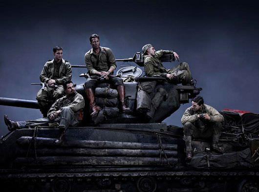 L-r: Shia LeBeouf, Michael Pena, Brad Pitt, Jon Bernthal & Logan Lerman. Courtesy Sony Pictures.