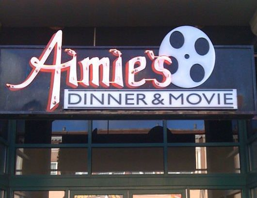 Aimie's serves, among other tasty treats, a Lord of the Onion Rings appetizer. Courtesy Aimie's Dinner & Movie.
