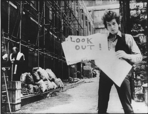 Bob Dylan, from DA Pennebaker's 'Don't Look Back.' Dont Look Back courtesy of D.A. Pennebaker