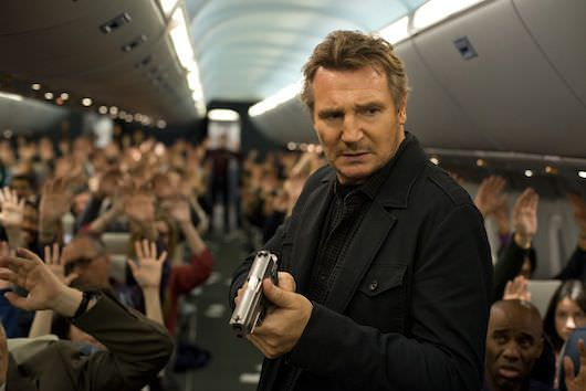 Marshall Bill Ricks (Neeson) moves through the plan. Photography By Myles Aronowitz. Courtesy Universal Pictures.