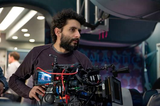 Director Jaume Collet-Serra on Alec Hammond's incredible, tightly packed set. Photography By Myles Aronowitz. Courtesy Universal Pictures.