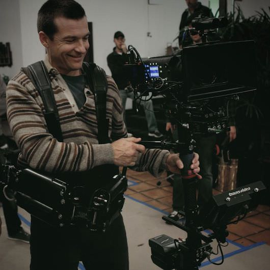 Bateman using a steadicam on the set of 'Bad Words.' Courtesy Focus Features.