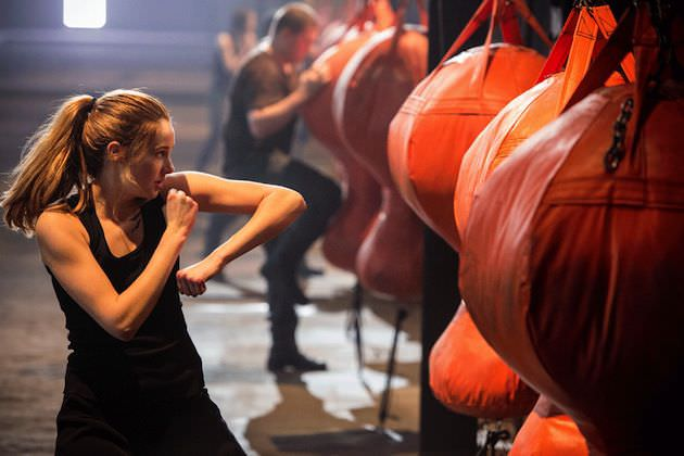 Shaileen Woodley trained hard for her role as Tris. Courtesy Summit Entertainment