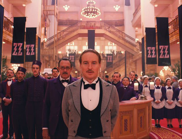 Owen Wilson in  the lobby in 'The Grand Budapest Hotel.' Courtesy Fox Searchlight Pictures.