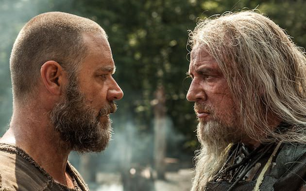 (Left to right) Russell Crowe is Noah and Ray Winstone is Tubal-Cain in NOAH, from Paramount Pictures and Regency Enterprises. N-20053R