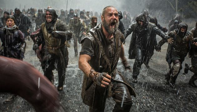 Noah defends his ark. Courtesy Paramount Pictures.