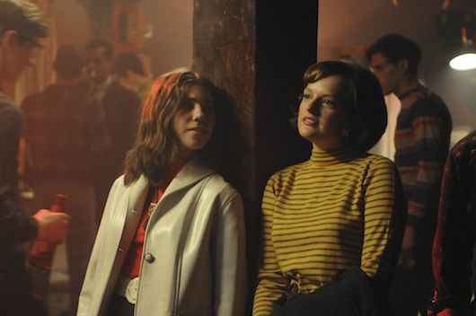 Joyce Ramsey (Zosia Mamet) and Peggy Olson (Elisabeth Moss)