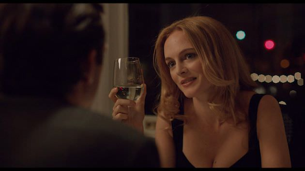 Heather Graham is Stephanie, also divorced, seeing Otto for the first time in years. Photo by Corey Walter copy