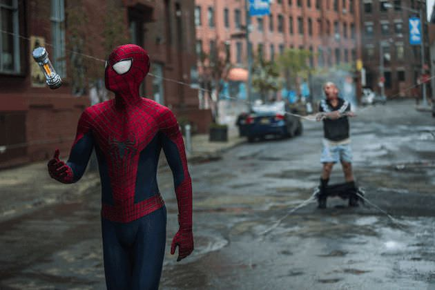 Spiderman gets his man. Courtesy Sony Pictures.